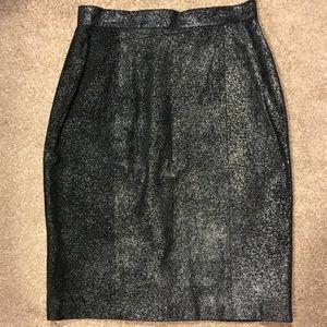 NWOT Suede Jacqueline Ferrar Black Skirt